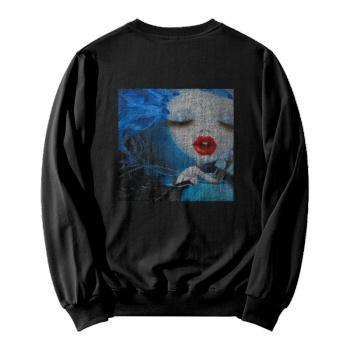 Faerie Custom Women's Black Crew Neck Sweater