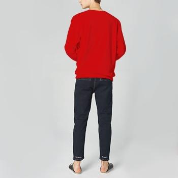 Faerie Custom Man's Red Crew Neck Sweater