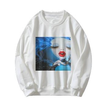Faerie Custom Women's White Crew Neck Sweater
