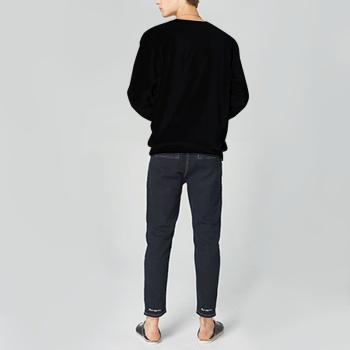 Faerie Custom Man's Black Crew Neck Sweater