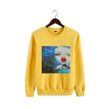 Faerie Custom Man's Yellow Crew Neck Sweater