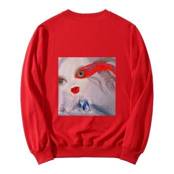 Faerie Custom Women's Red Crew Neck Sweater