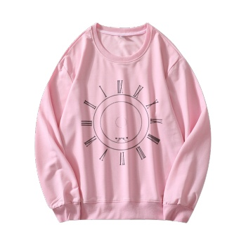 Race Against The Clock Custom Women's Pink Crew Neck Sweater