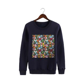 Christmas Kid Jigsaw Puzzle Custom Man's Navy Blue Crew Neck Sweater