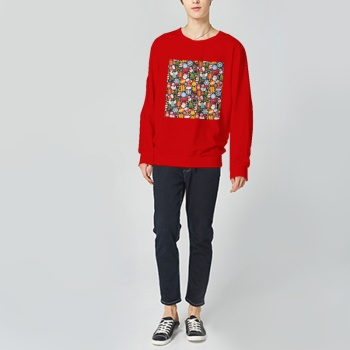Christmas Kid Jigsaw Puzzle Custom Man's Red Crew Neck Sweater