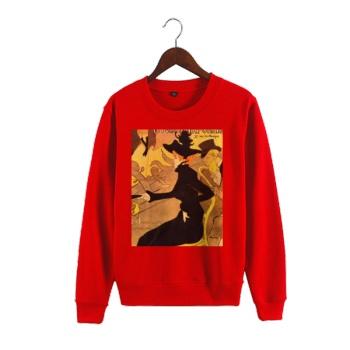 Oil Painting Depot Custom Man's Red Crew Neck Sweater