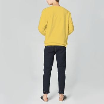 Time Flies Custom Man's Yellow Crew Neck Sweater