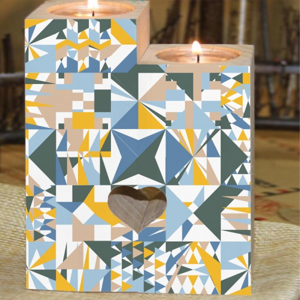 Different Graphics Custom Candle Holder