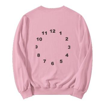 Time Elapse Quickly Custom Women's Pink Crew Neck Sweater