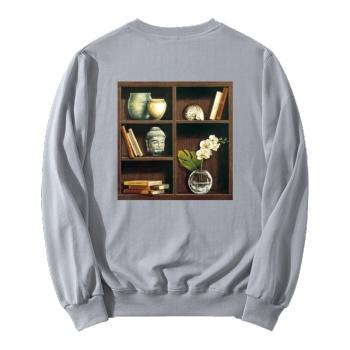 Oil Painting Depot Custom Women's Gray Crew Neck Sweater