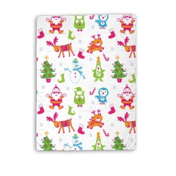 Merry Christmas Custom Baby Blanket (Vertical)