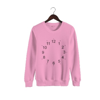 Time Elapse Quickly Custom Man's Pink Crew Neck Sweater