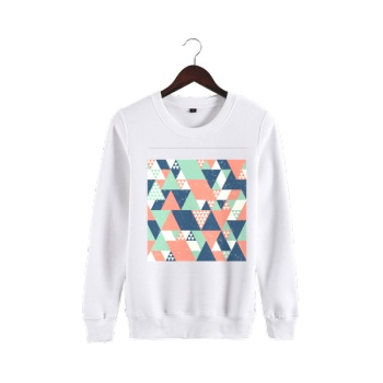 Different Perspectives Custom Man's White Crew Neck Sweater