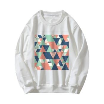 different perspectives Custom Women's White Crew Neck Sweater