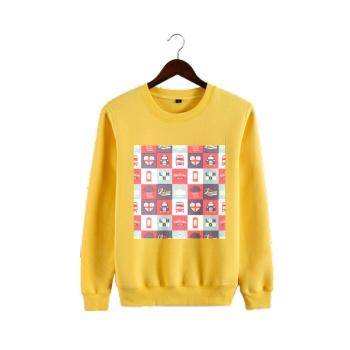 different perspectives Custom Man's Yellow Crew Neck Sweater