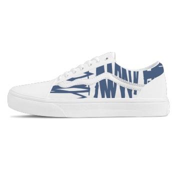 Blue lines Custom Skate Shoes