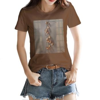 Gourd Custom Women's T-shirt Brown