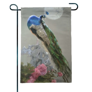 Peacock Custom Garden Flag (12.5Inch-18Inch)