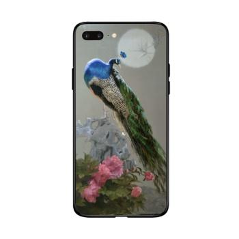 Peacock Custom Toughened Phone Case For Iphone 8 Plus