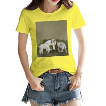 Three brothers Custom Women's T-shirt Yellow