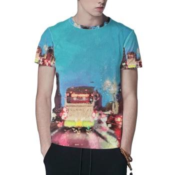 City lights Custom All Surface  Men's T-shirt