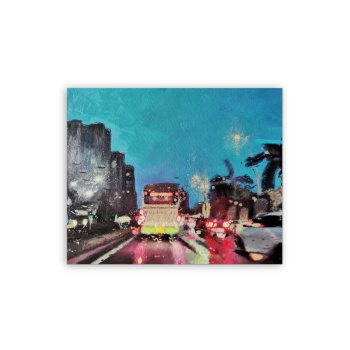 City lights Custom Hanging Picture Decoration Picture,Canvas Print