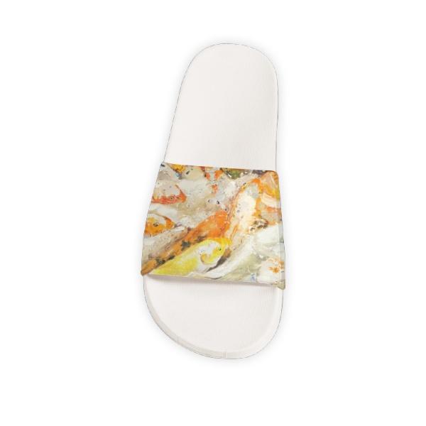 Koi fish Custom Slippers White