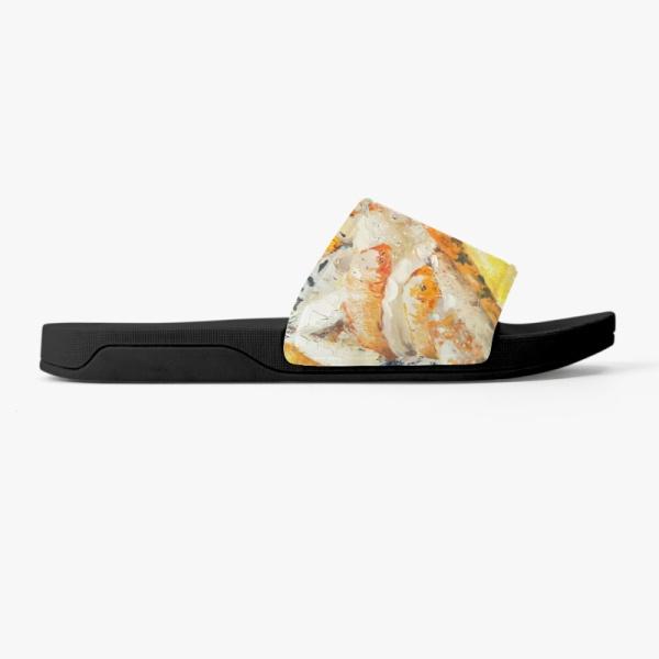 Koi fish Custom Slippers Black
