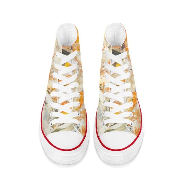 Koi fish Custom High Top Canvas Shoes White