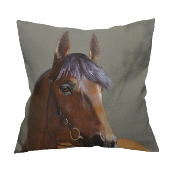 Horse Custom Flax Pillowcase