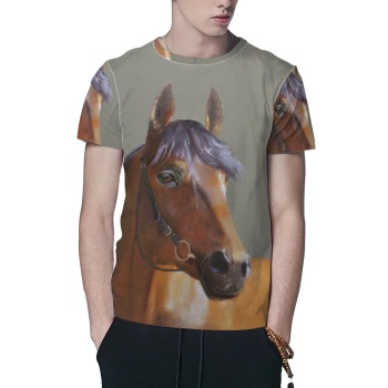 Horse Custom All Surface  Men's T-shirt