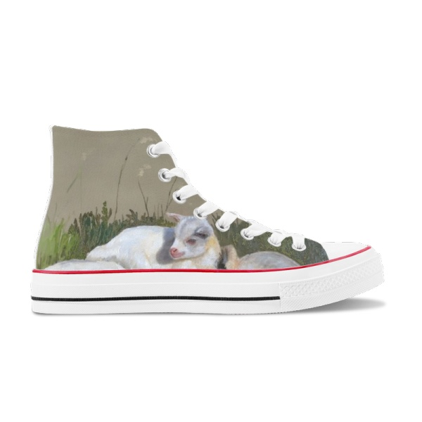 Three brothers Custom High Top Canvas Shoes White