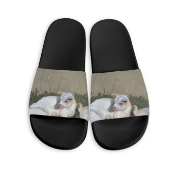 Three brothers Custom Slippers Black