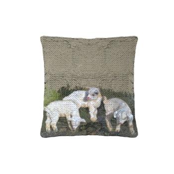 Three brothers Custom Sequin Pillowcase