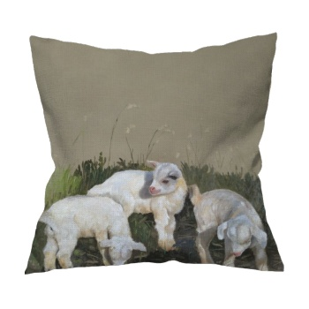 Three brothers Custom Flax Pillowcase