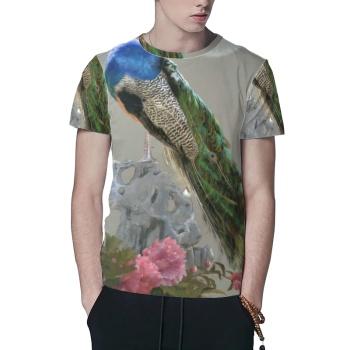 Peacock Custom All Surface  Men's T-shirt