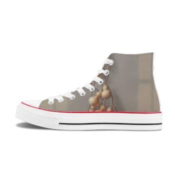 Gourd Custom High Top Canvas Shoes White