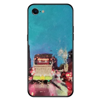 City lights Custom Toughened Phone Case For Iphone 8