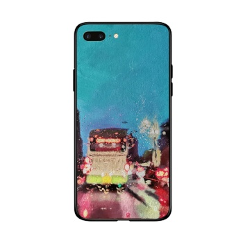 City lights Custom Toughened Phone Case For Iphone 8 Plus