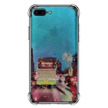 City lights Custom Transparent Phone Case For Iphone 8 Plus