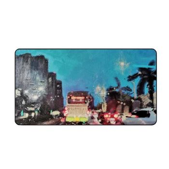 City lights Custom Lock Edge Mouse Pad (15.7Inch-29.3Inch)