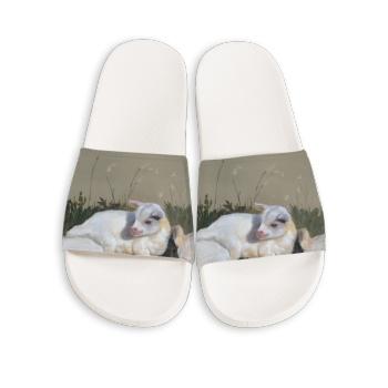 Three brothers Custom Slippers White