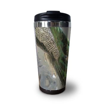 Peacock Custom Coffee Cup