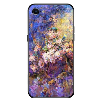 Birds and flowers 1 Custom Toughened Phone Case For Iphone 8