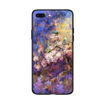 Birds and flowers 1 Custom Toughened Phone Case For Iphone 8 Plus