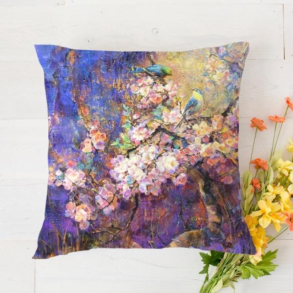 Birds and flowers 1 Custom Pillowcase