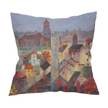 Egret Island  Custom Flax Pillowcase
