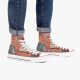 Red fish Custom High Top Canvas Shoes White