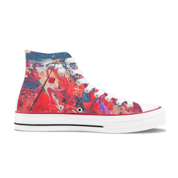 The thriving day Custom High Top Canvas Shoes White