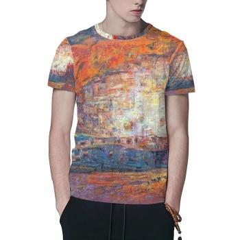 Silk roads Custom All Surface  Men's T-shirt